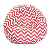 Majestic Home Goods Coral Chevron Small Classic Bean Bag