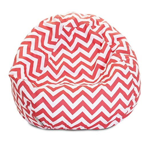 Majestic Home Goods Classic Bean Bag Chair - Chevron Giant Classic Bean Bags for Small Adults and Kids (28 x 28 x 22 Inches) (Tiffany - Tiffany Outlet Stores