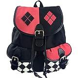 KEBEIXUAN Colorblock Backpack Canvas Dark Bag Bundle Backpack