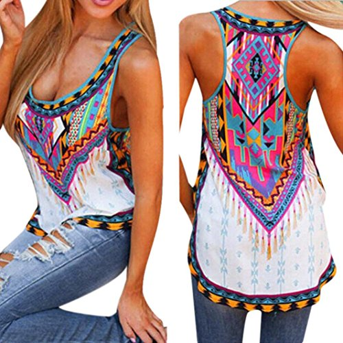 Franterd Women Vest Summer Sleeveless Shirt Tee Tank Tops (XL)