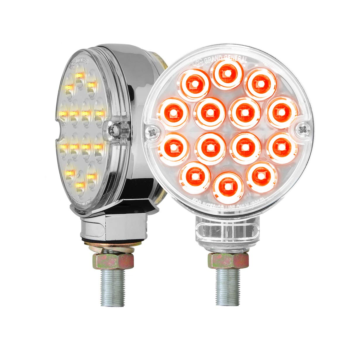 GG Grand General 75195 Lens Kit (3'' Pearl Double Face Amber/Red Clear,14 LED/Side Twin Pk)
