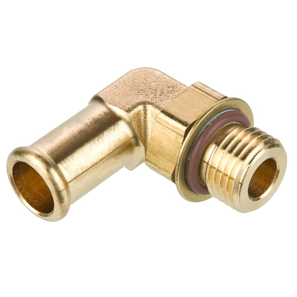 3//4 and 3//4-16 Pack of 20 3//4 and 3//4-16 Beaded Barb and Straight Thread 90 Degree Beaded Barb Elbow Pack of 20 Brass Parker 1695HB-12-8-pk20 Brass Hose Barb Fitting Barb to Straight Thread