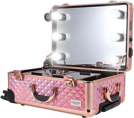 makeup trolley bag with lights