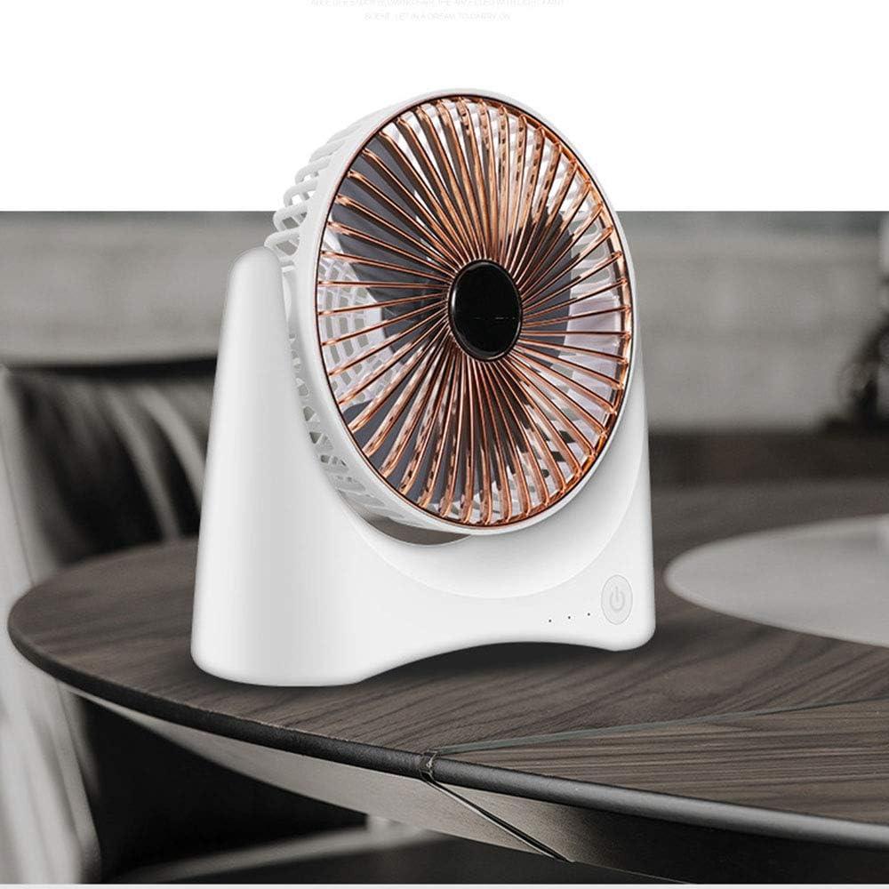 QYCL USB Small Fan Creative Desk Fan Dormitory USB Fan Mini Fan Silent Student Fan Travel Portable Silent Fan,Noblegold