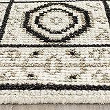 Cheap Safavieh Kenya Collection KNY625A Handmade Ivory and Grey Premium Wool Area Rug (3′ x 5′)