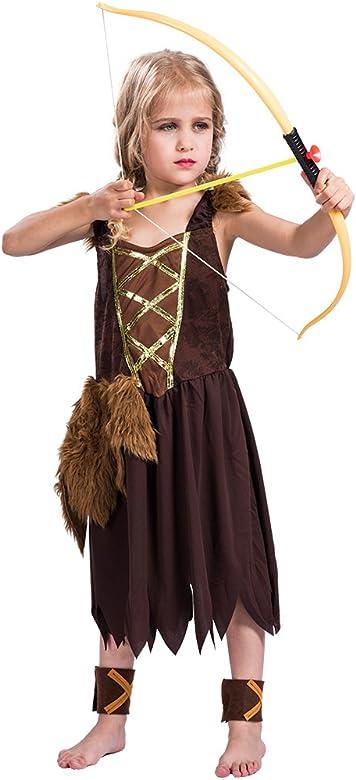 EraSpooky Disfraz Vestido de Halloween de Chica Vikingo para ...