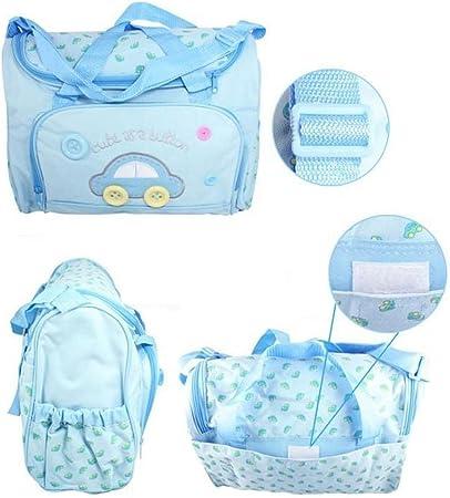Bleu Clair Lot 4pcs Sac /à Langer Multifonctionnel B/éb/é Sac de Biberon Pour Maman Maternity Promenade Voyage