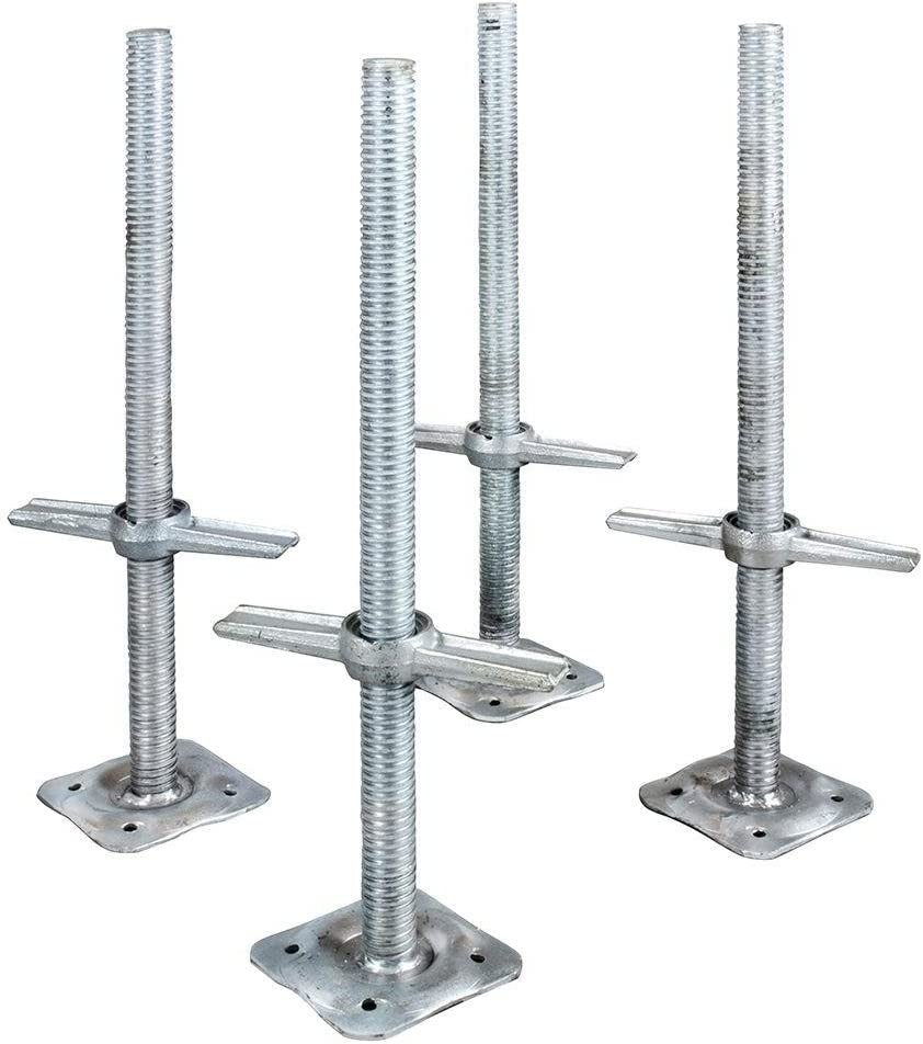 Metaltech Adjustable Leveling Jacks - 4-Pk. for Baker-Style Scaffolding, Model Number I-IBSJP12H4