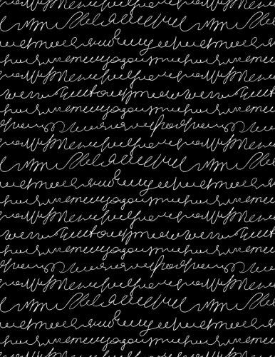 (My Big Fat Journal Notebook Scribbly Handwriting White On Black: Jumbo Sized Ruled Notebook Journal - 300 Plus Lined and Numbered Pages With Index For ... by 11 Size (Jumbo)
