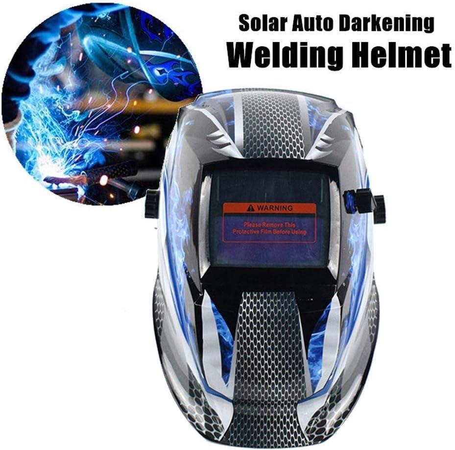 Womdee Casque de Soudure /à /énergie Solaire Automatique avec Fonction de broyage Professionnel /à larc avec Large lentille r/églable 4//9-13 pour TIG MIG MMA Plasma