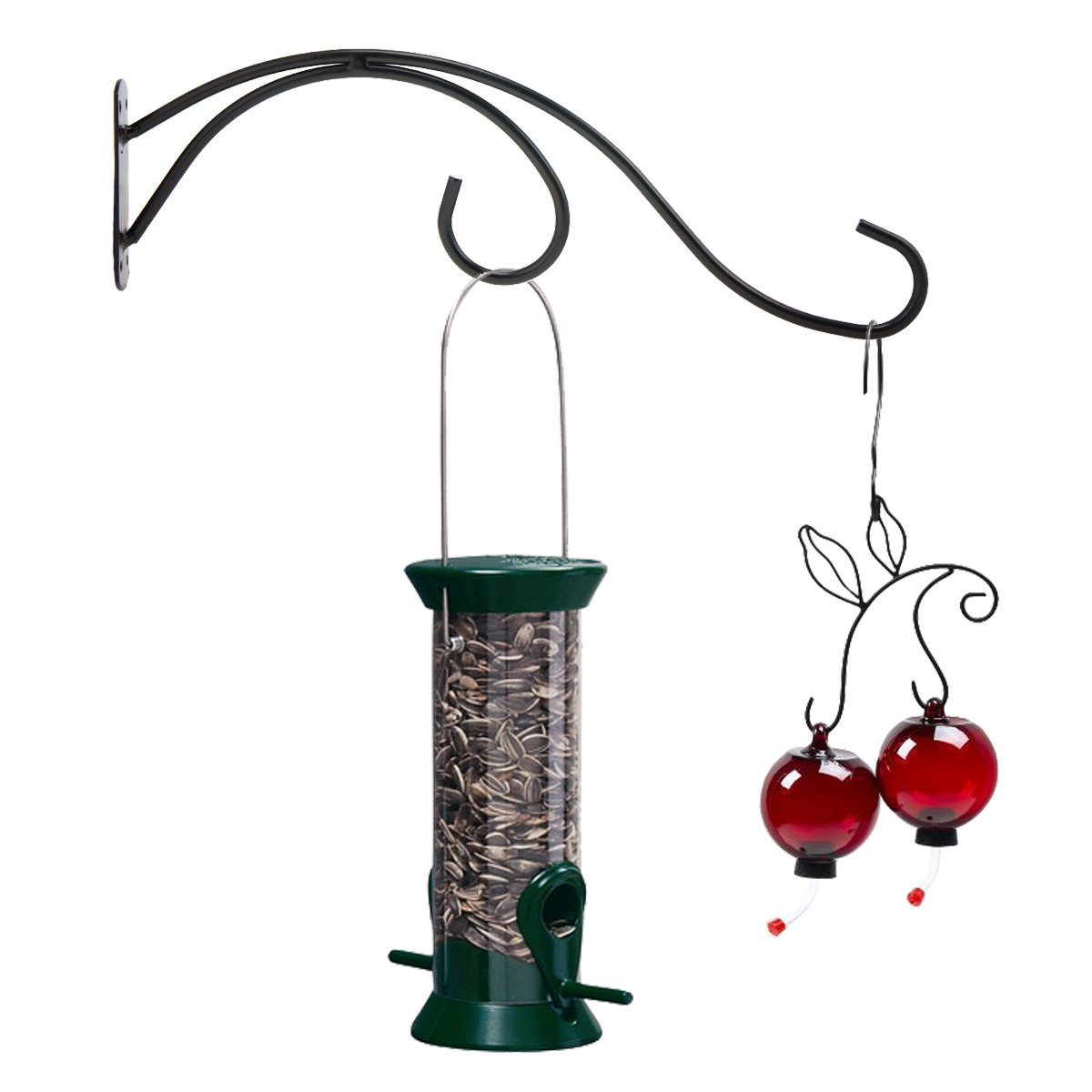 hook hanging arm long hanger decks for bird feeders rod hangers swing feeder plants install a how to or
