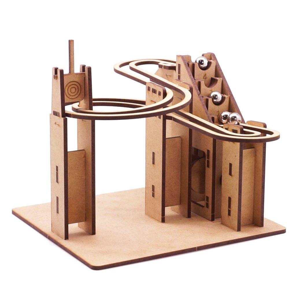 新品即決 Mize DIY Wooden Puzzles Motor Marble Decor Run Automata Assembly Automata Model kits (Motor Operating Staircase) Mechanical Puzzles for Kids & Kidults, Home Room Office Interior Decor B071WCVSQK, 雑貨カンカン:f4949b4e --- a0267596.xsph.ru