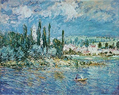 Landscape with Thunderstorm By Claude Monet.100% Hand Painted.Oil On Canvas.Museum Quality Reproduction. (Unframed and Unstretched).