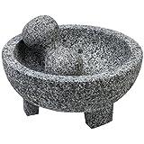 "IMUSA mexi-2011m granito Molcajete, 8"", color gris, Gris, 15.24 cm, 1"