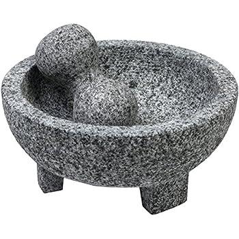 Amazon.com: Molcajete de Piedra Negra / Black Stone Mortar ...