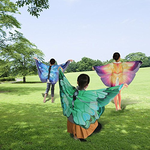 2d5afa707 iROLEWIN Kids Dreamy Butterfly Wings Costume for Girls Fancy Dress up  Pretend Play Party Favor