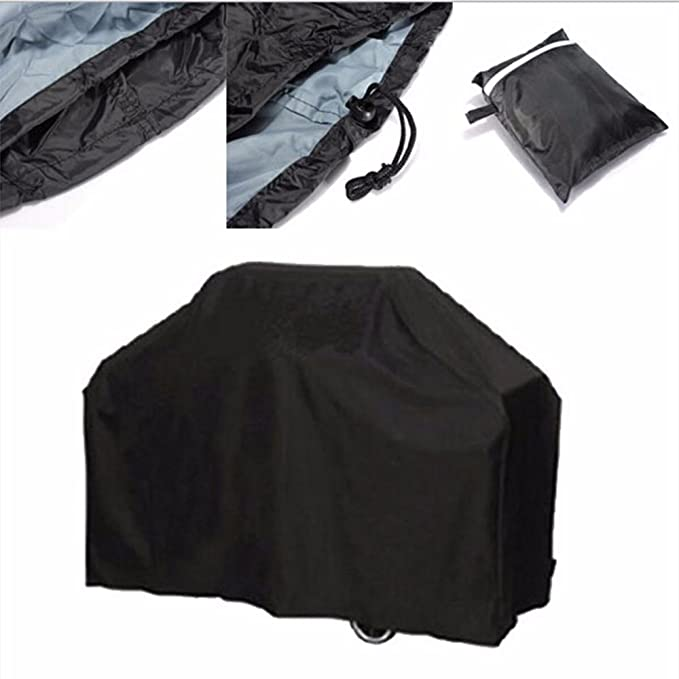 Amazon.com : Black Waterproof BBQ Grill Barbeque Cover Outdoor Rain Grill Barbacoa Anti Dust Protector For Gas Charcoal Electric Barbecue Bag (M) : Garden & ...
