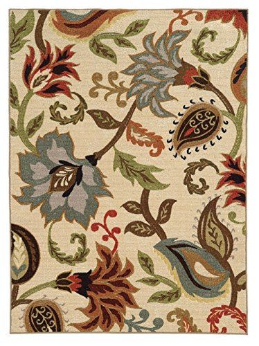 Moretti Luxe Area Rug 15927 Casual Ivory Petals Flowers 3' 3