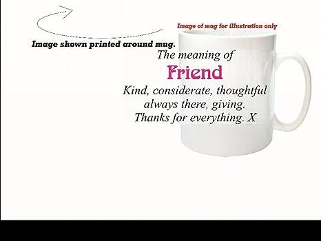 El significado de amigo Sarcastic – taza de cerámica apto para lavavajillas