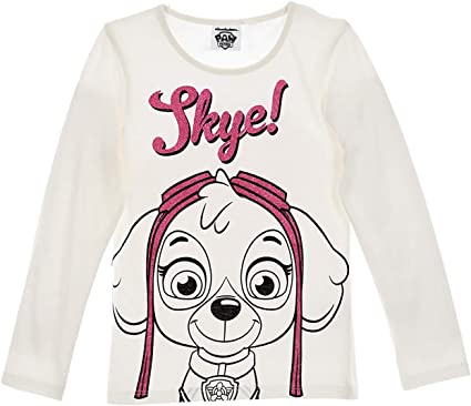 Paw Patrol Nickelodeon - Camiseta oficial de manga larga para niña ...