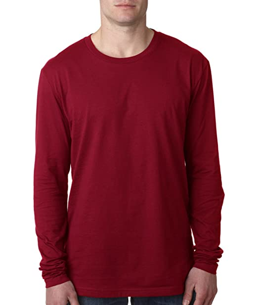 Next Level Apparel mens Next Level Premium Fitted Long-Sleeve Crew(N3601)- 59e182a0692fb