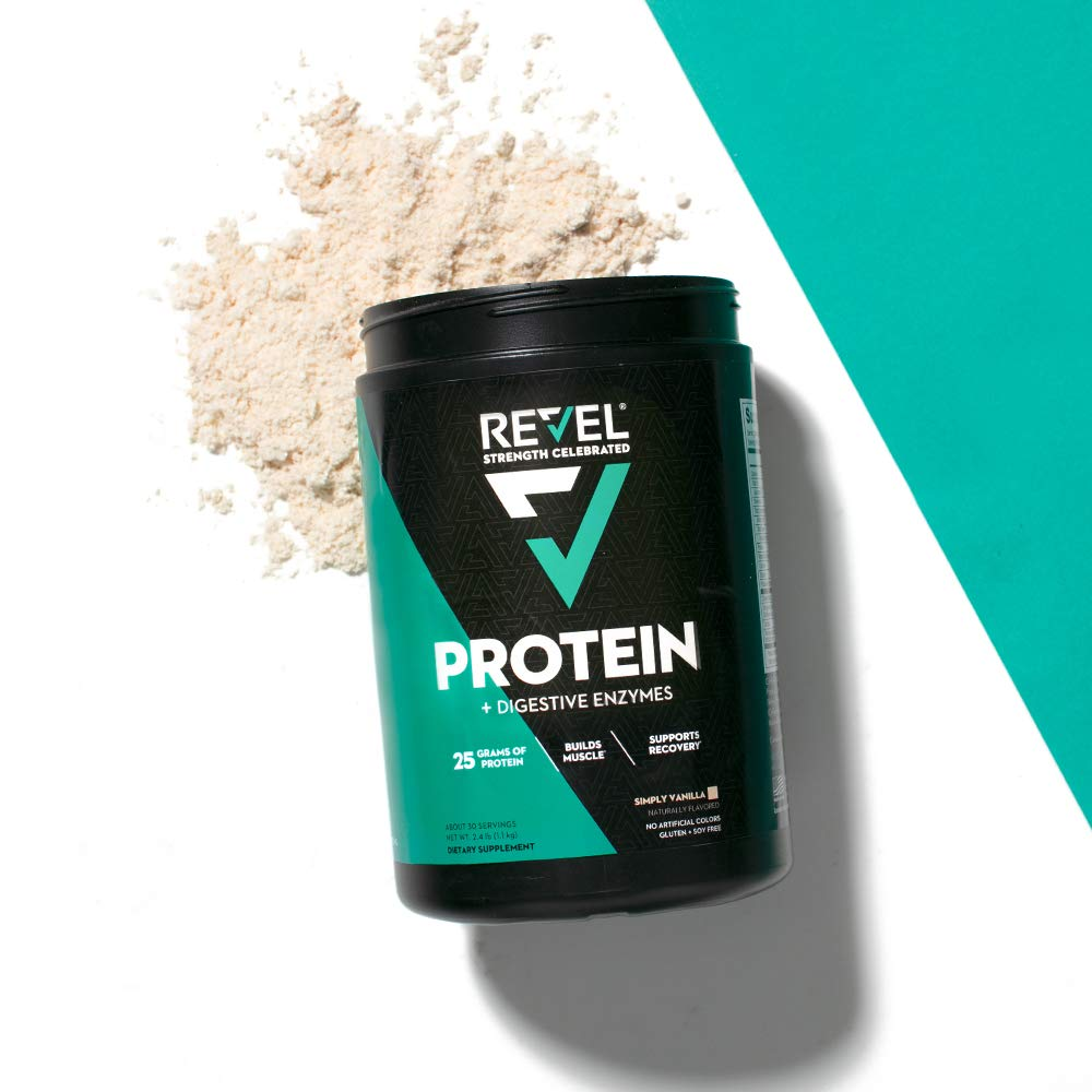Revel Whey Protein Powder for Women | 25g Protein | Supports Weight Loss Metabolism Lean Muscle | 2lbs (Simply Vanilla) by Bodybuilding.com