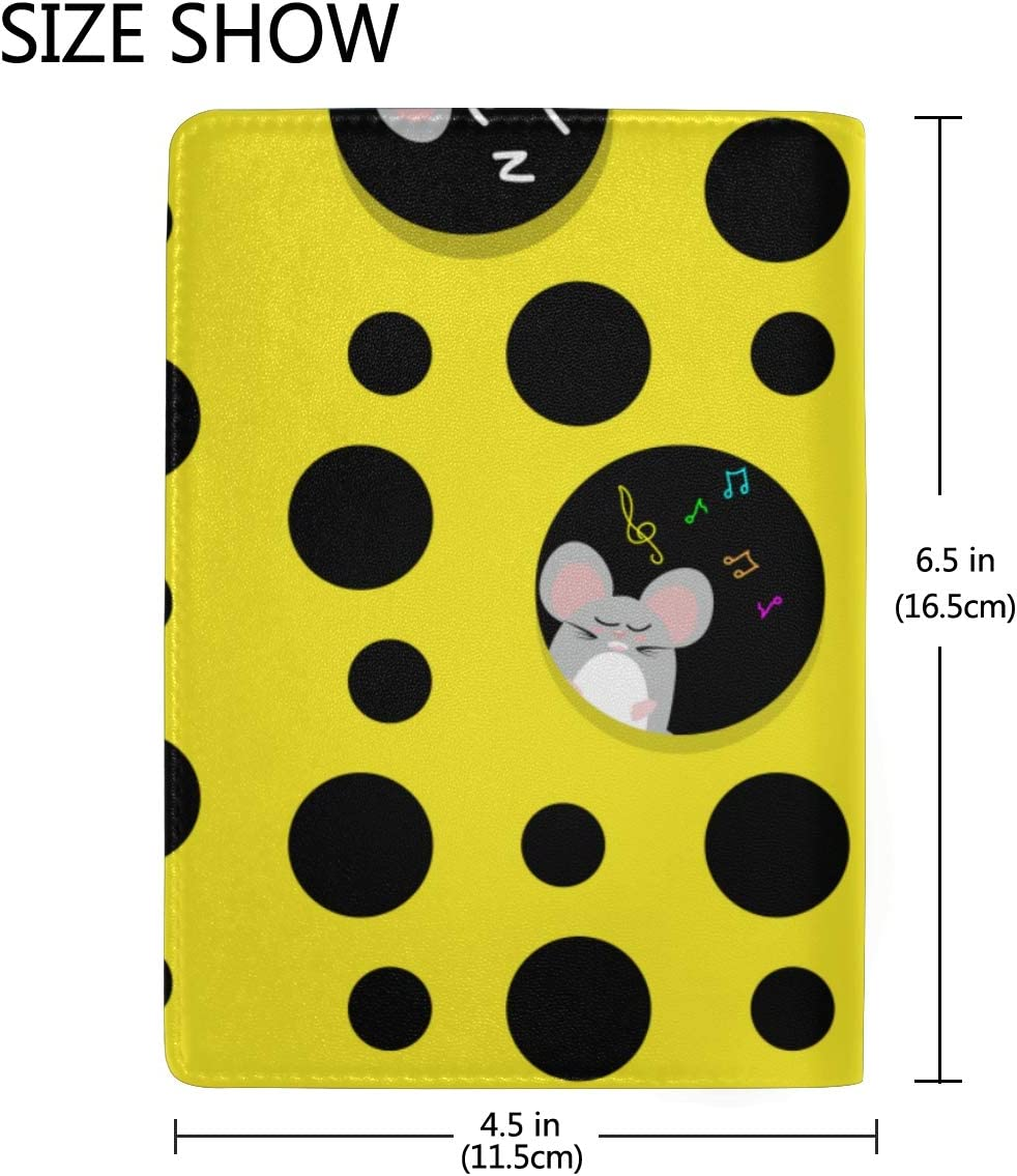Waterproof Passport Case Yellow Delicious Cheese Stylish Pu Leather Travel Accessories Us Passport Cover Plastic For Women Men
