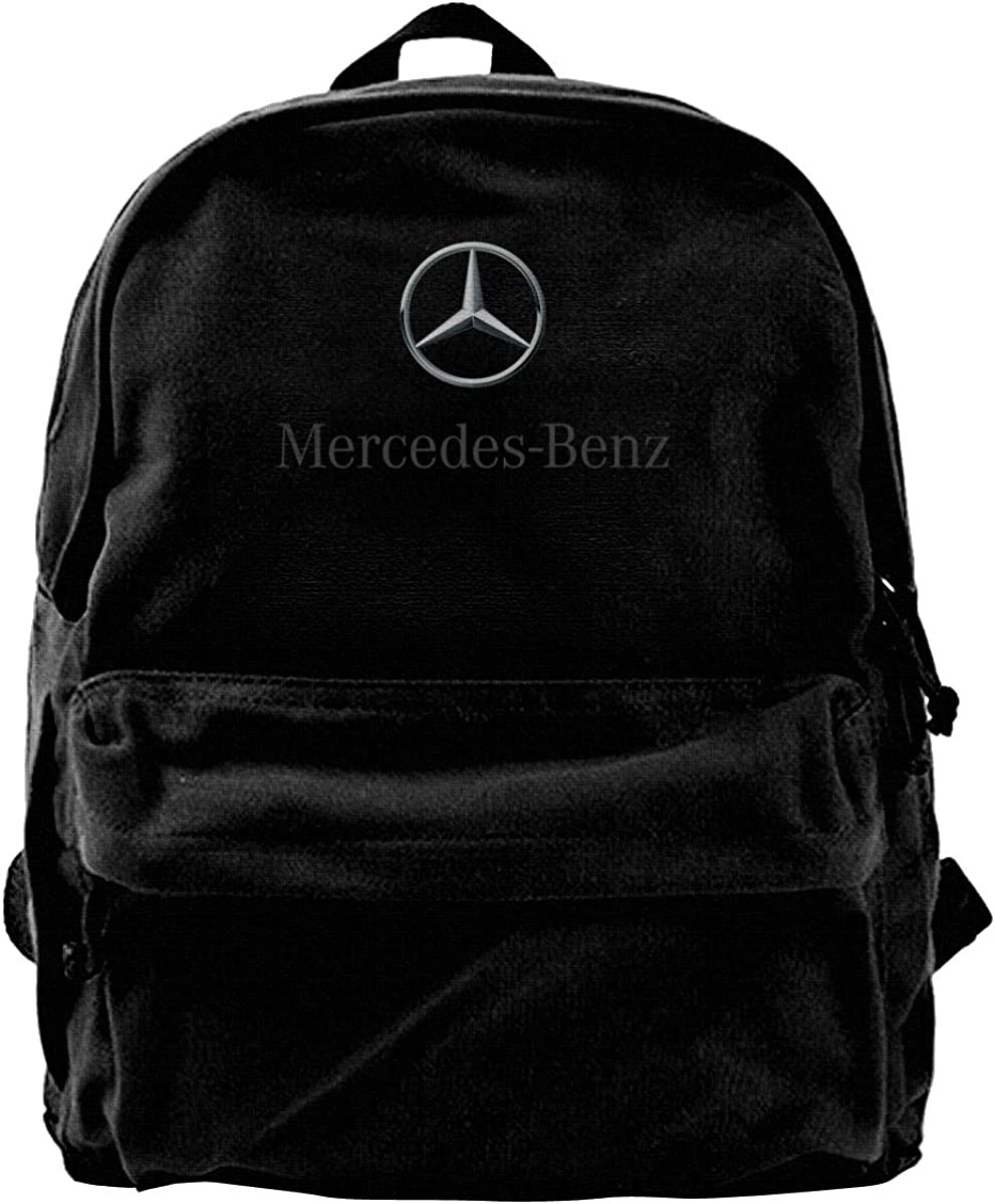 ShannonStone Men's M-Benz Black Background Attractive Cotton Canvas Laptop Bags For Mountain Climbing