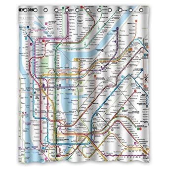 Ny Subway Map Background.New York Subway Map Background Waterproof Shower Curtain Bath Curtain Size 60 X 72