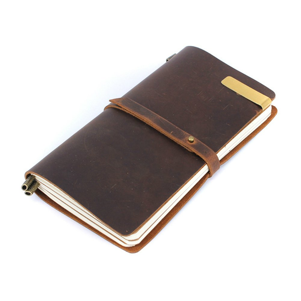 LEATHER JOURNAL Writing Notebook - Refillable, Handmade Personalized Traveler's Diary Notebook, Classic Vintage Style8 x 4.5 Inches,Best Gift for Art Sketchbook