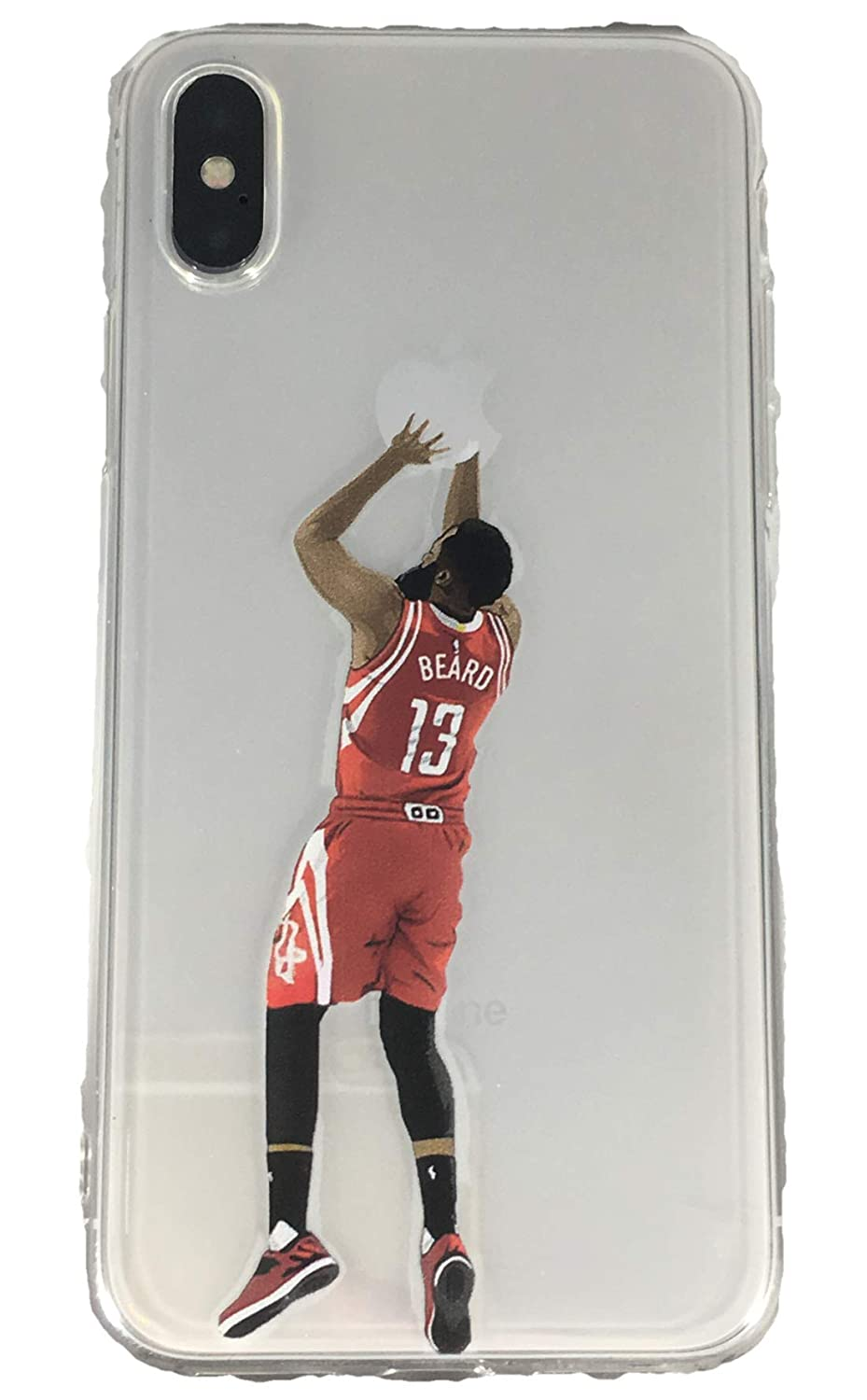 a0f2a1ee0425e ECHC Soft TPU Basketball Case with Your Favorite Past and Present Players  Compatible for iPhone (Harden Jump Shot, iPhone 7 Plus)