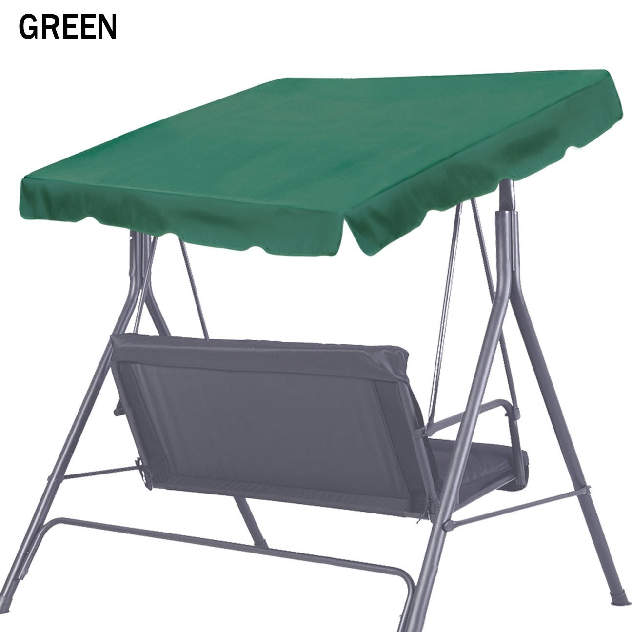 Strong Camel New Patio Outdoor Swing Canopy Replacement Porch Top Cover for Seat Furniture (73''x52, Green) by Strong Camel