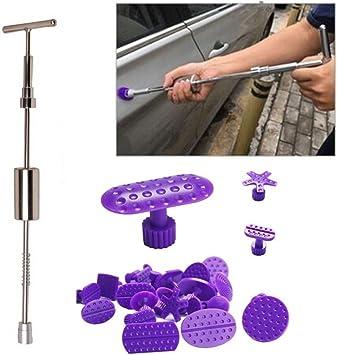GS 25PCS auto Body Dent strumenti di rimozione 2/in 1/martello scorrevole con colla linguette Hand Tools PDR Dent kit di riparazione