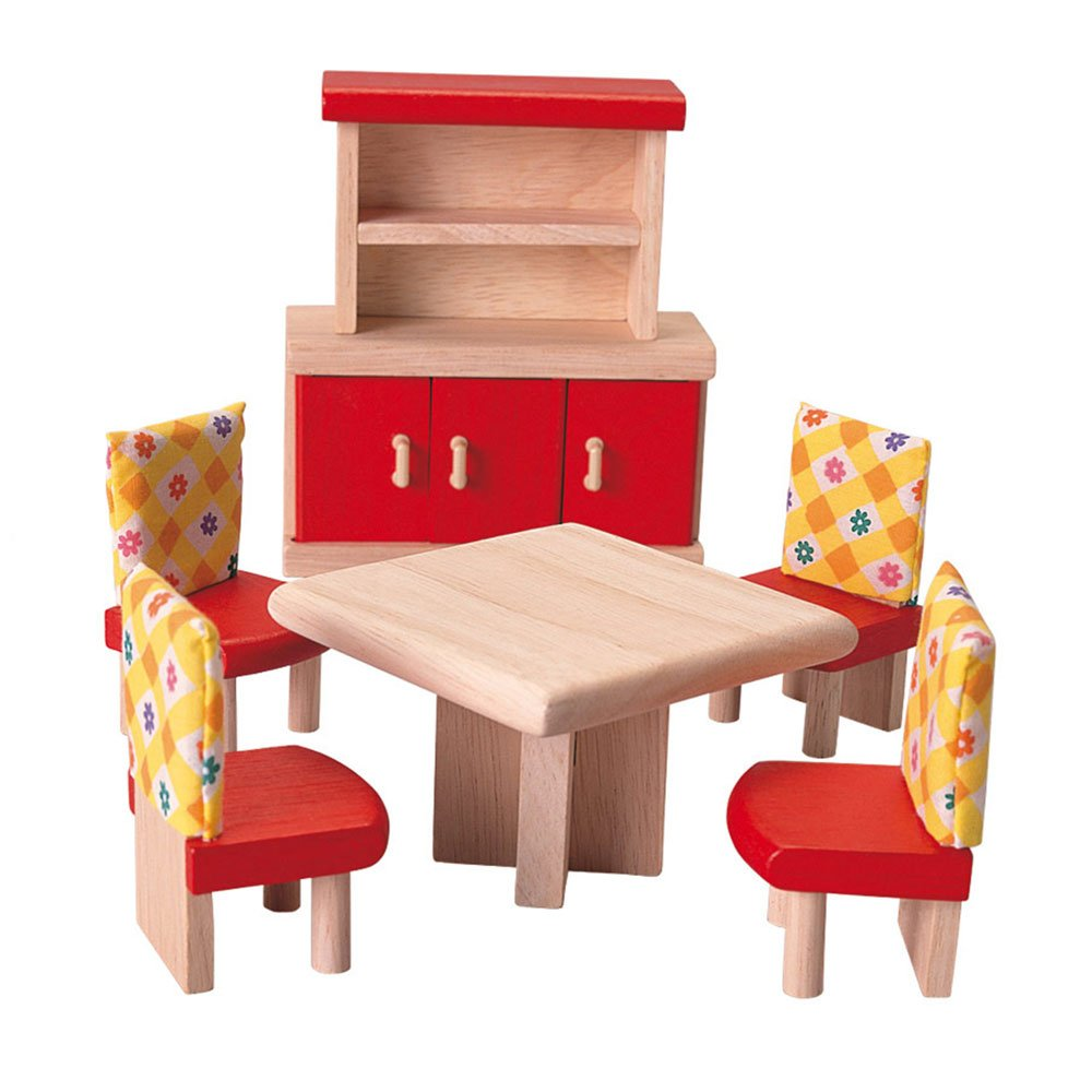 amazoncom plan toys doll house dining room  neo style toys  games -