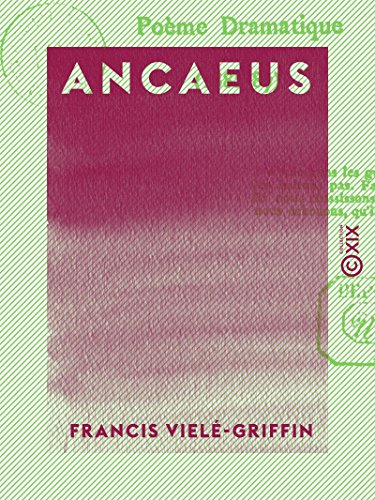 Ancaeus Poème Dramatique French Edition Kindle Edition