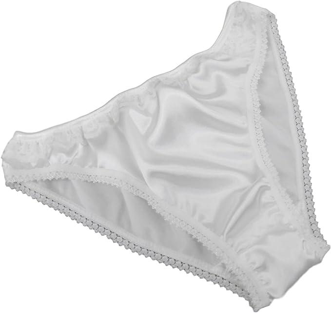 Frauen Atmungsaktiv Seidiges Satin Slip Höschen Dessous Unterwäsche L-2XL Shorts