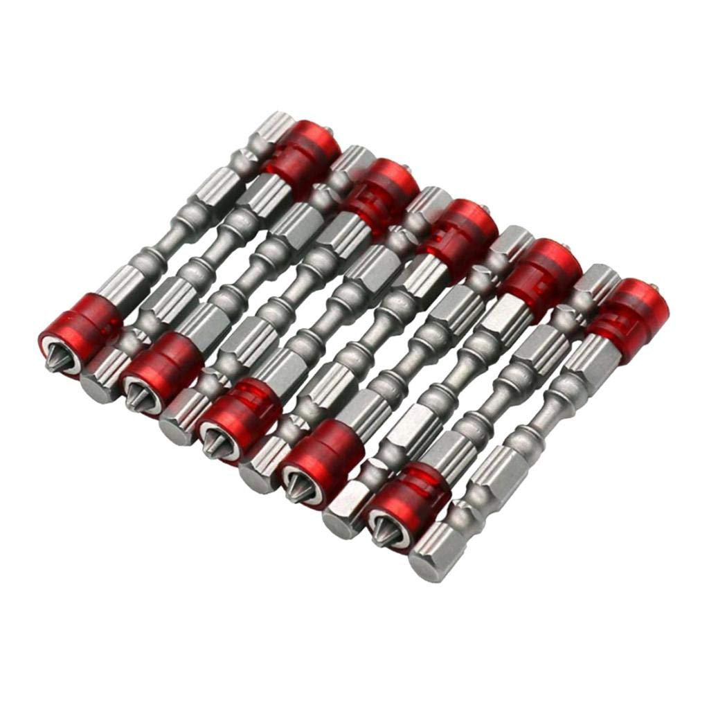 B Blesiya Magnetic Screwdriver Bit S2 Steel Single Head Electric Hex Screw Driver Set