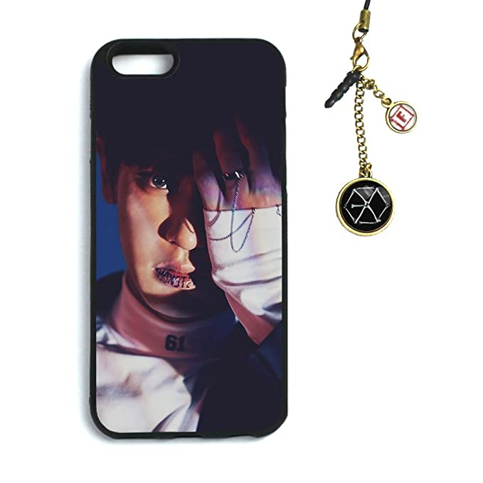 new styles 5700d 9a1d3 Fanstown Kpop EXO iPhone 6/6s case EX'ACT + Dust Plug Charm (C23)