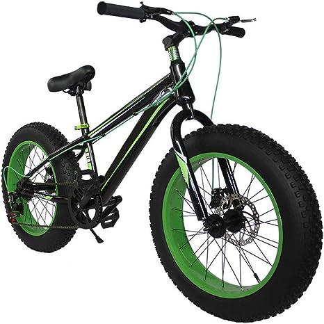 XWDQ Velocidad Variable Todoterreno ATV Frenos De Disco De 20 Pulgadas Estudiante De Bicicleta De Montaña Moto De Nieve Súper Ancha para Amortiguar Neumáticos: Amazon.es: Deportes y aire libre