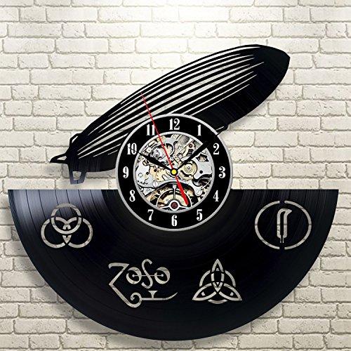 Led Zeppelin Vinyl Wall Clock Art Gift Room Modern Home