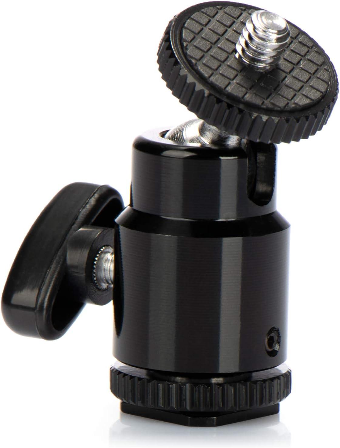 com-four/® Mini-tr/épied avec rotule//Mini rotule de tr/épied avec Filetage 1//4pour Appareil Photo Reflex num/érique tr/épied Rotatif /à 360 /° vis de Montage