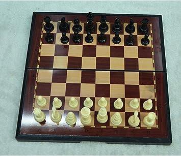 Xcfypiao Juego de ajedrez,19.5 cm pequeño Juego de ajedrez de ...