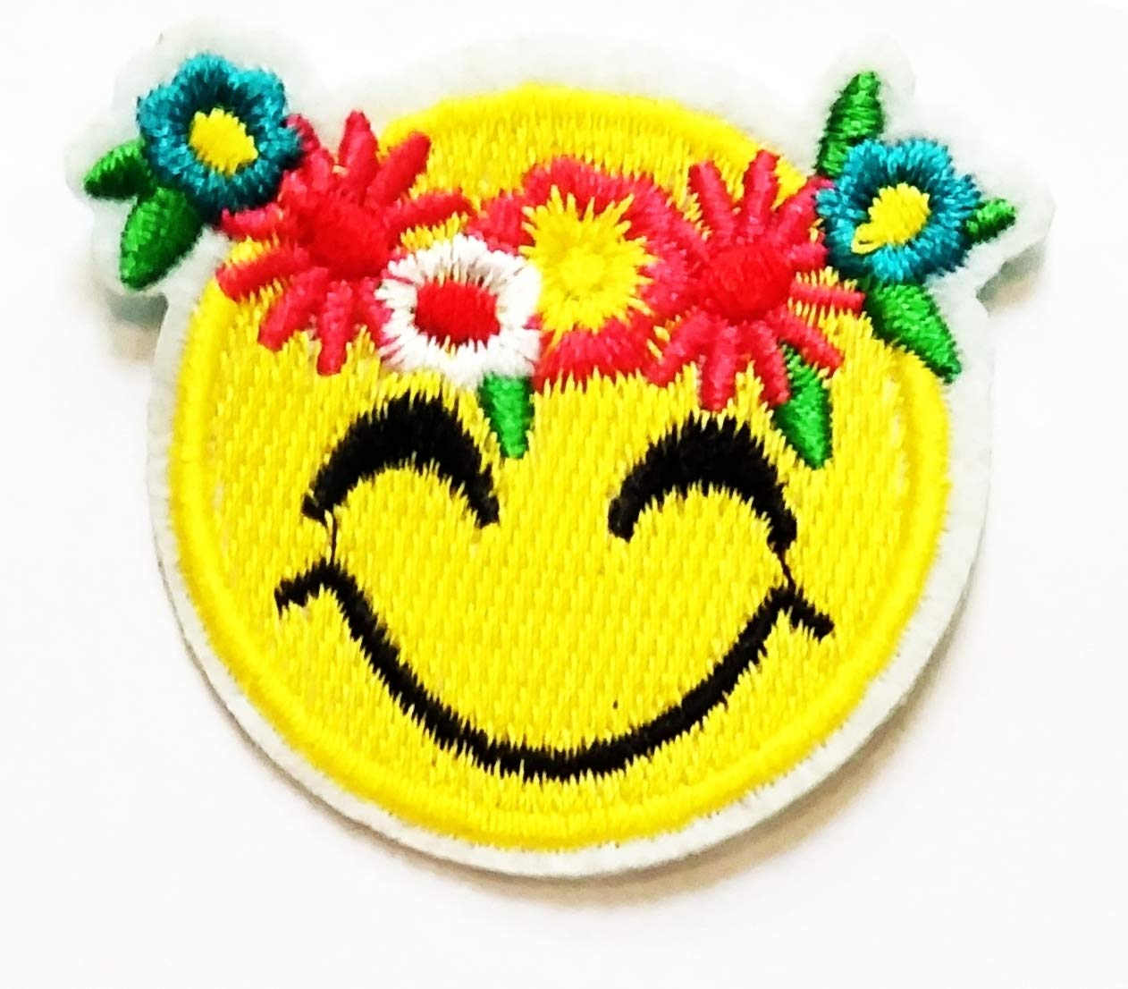Nipitshop Patches Cute Pretty Yellow Face Smile