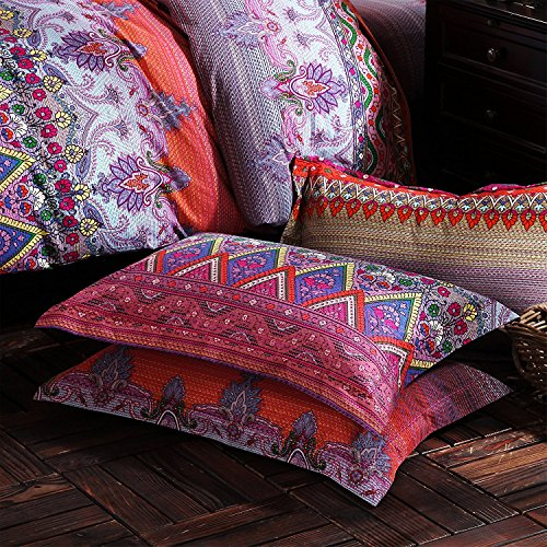 FADFAY Colorful Bohemian Ethnic Style Bedding Boho Duvet Cover Bohemian Sheet Sets Baroque Style Bedding 4 Pcs (Twin XL, Flat Sheet) by FADFAY (Image #6)'