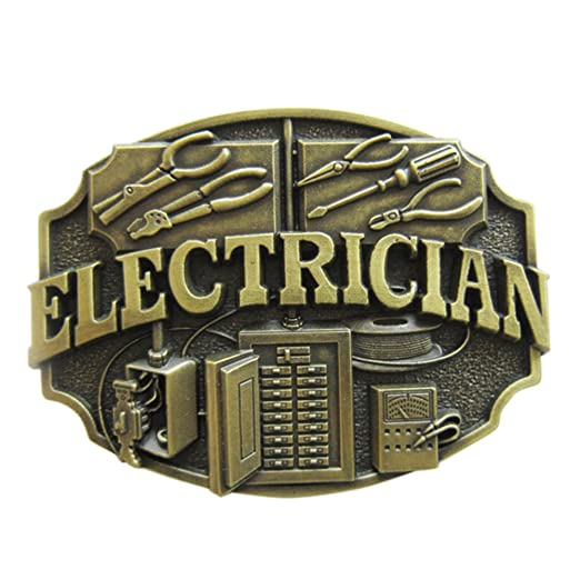 Men Belt Buckle Electrician Trades Belt Buckle Gurtelschnalle Boucle de ceinture