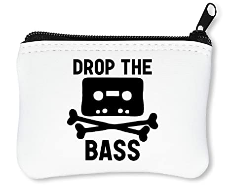 Drop The Bass Skull Cassette Black Monochrome Billetera con ...