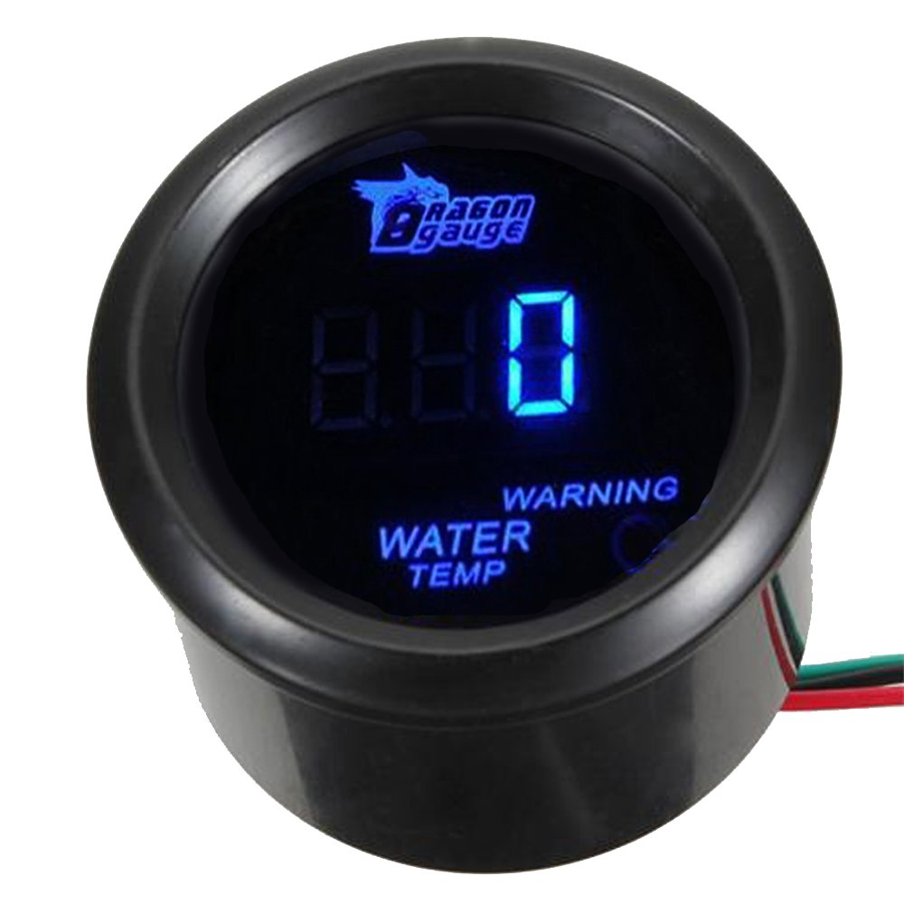 HOUTBY 52mm Car Motor Digital Blue LED Light Display Water Temp Fahrenheit F LED Gauge