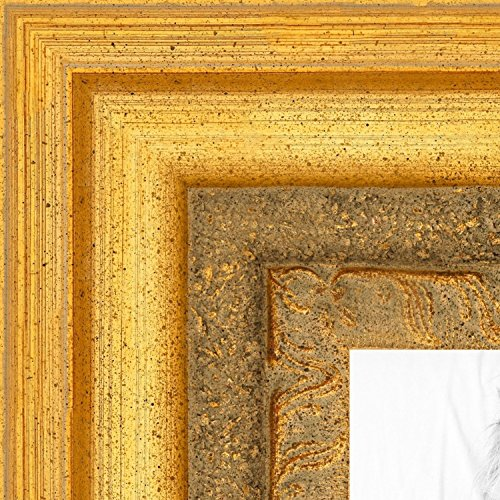 ArtToFrames 11x14 inch Traditional (real) Gold Leaf Wood Picture Frame, WOM1099-11x14 ()