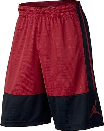 f78832e363a Amazon.com: NIKE Air Jordan Rise Red/Black Men's Basketball Shorts ...