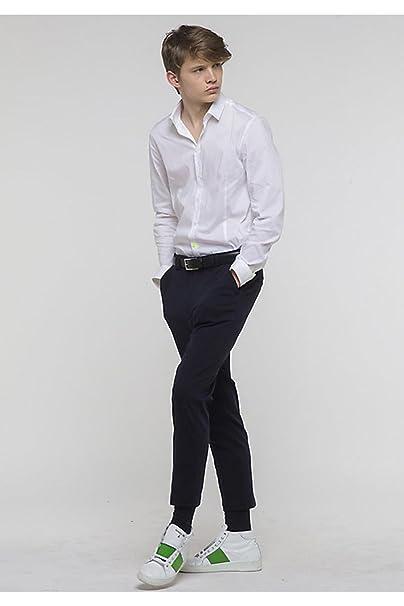 new styles e2949 1d100 Camicia in Popeline di Cotone Stretch Bianca 5J1409 A2LT ...